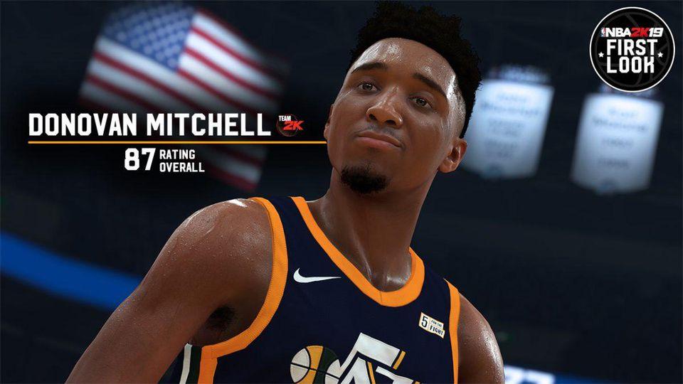 b8f8028d322 Les notes de NBA 2K19   Donovan Mitchell rejoint Jayson Tatum dans ...